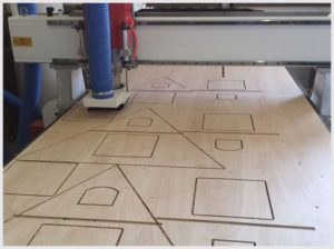CNC routing machine in operation